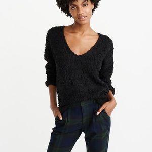 Abercrombie boucle v neck sweater